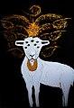 Künstler Erol Alp malt das Lamm Gottes.jpg