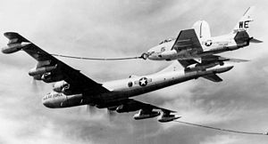 429th Air Refueling Squadron - KB-50J Refueling a Marine FJ-4B