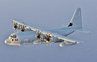 Lockheed Martin KC-130 - A KC-130J from VMGR-252 flies over the Mediterranean Sea, June 15, 2014