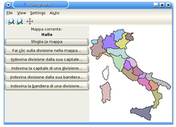 KGeography map of Italy