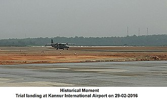 Mattanur - Trial landing at Kannur Airport (Aircraft: Dornier 228 of the Indian Air force)