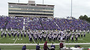 An American college marching band on the field (Kansas State University)