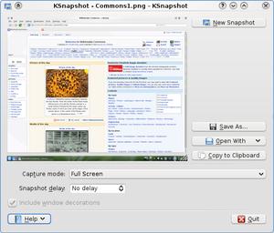 KSnapshot - Image: K Snapshot 0.8.1 KDE4.1