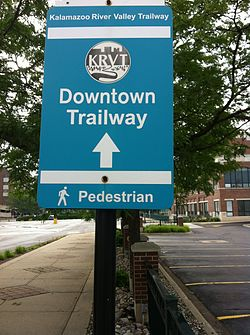 Kalamazoo River Valley Trailway Downtown Trailway Sign.jpg