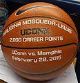 Kaleena Mosqueda-Lewis ball commemorating 2000th career point.jpg