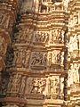 Kandariya Mahadeva temple wall erotic sculptures, Khajuraho.jpg