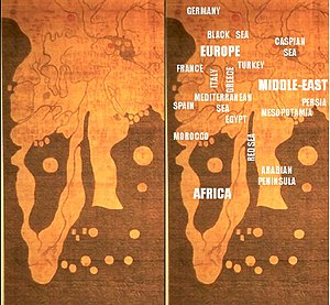 Gangnido - Details of Africa, Europe and the Middle East.