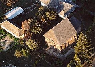 Karcsa - Aerial photograph of Karcsa Romanesque church