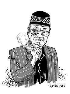 Karikatur Eyang Subur oleh Sheila [1]