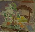 Karl Isakson - Still Life with Flowers, Fruits and the Back of a Chair - KMS6833 - Statens Museum for Kunst.jpg
