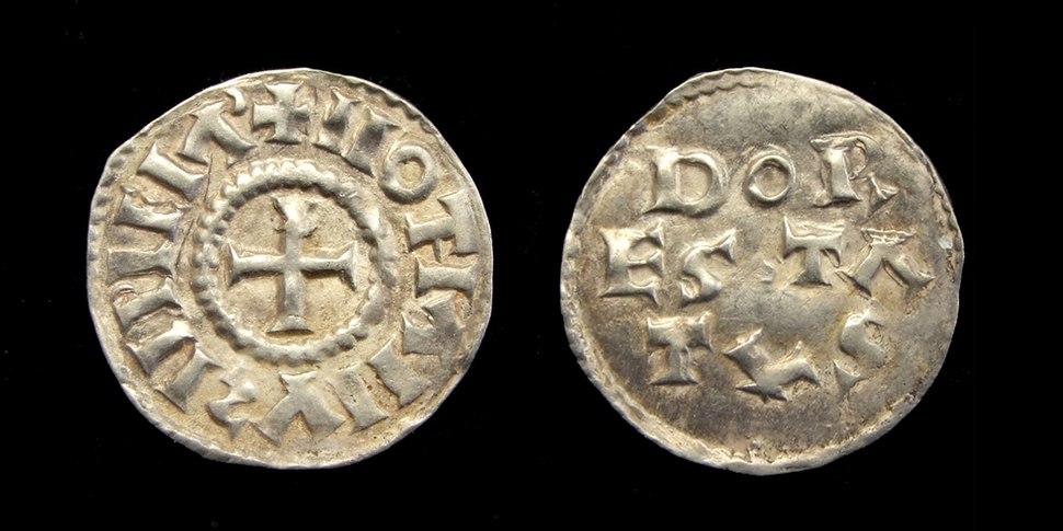 Karolingische denier Lotharius Dorestad