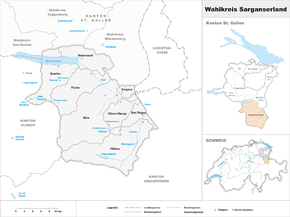 Map of constituency Sarganserland