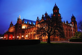 Kelvingrove Art Gallery and Museum - Rear elevation of the museum, looking westwards from Argyle Street, Glasgow.