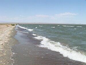 Khar Lake (Khovd) - The western shore of Khar Nuur