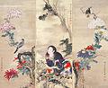 Kiku Jido and Flowers and Birds by Katayama Yokoku.jpg
