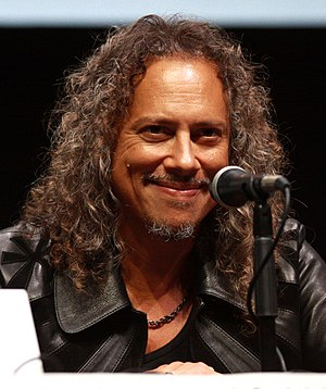 Kirk Hammett - Kirk Hammett speaking at the 2013 San Diego Comic-Con International, held in San Diego, California.