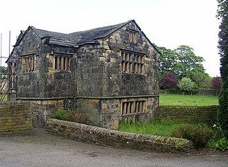 Kirklees Priory - Kirklees Priory Gate House, all that remains of the original priory