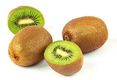 Fruto de Actinidia deliciosa, conhecido por kiwi