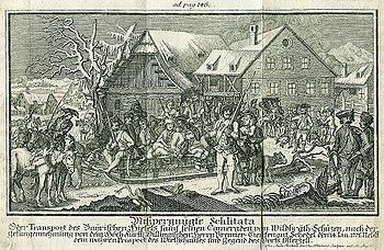 The removal of the Hiaslbande from Osterzell
