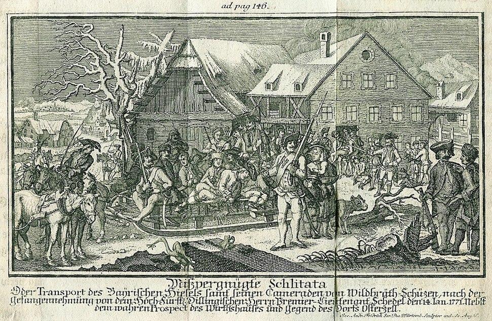 Der Abtransport der Hiaslbande aus Osterzell