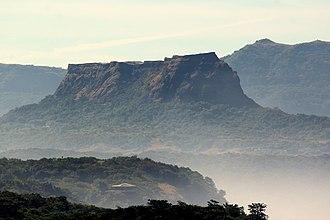 Korigad - Korigad hill fort as seen from Lonavla
