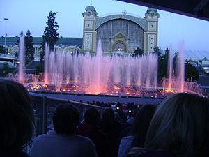 Musical fountain - Křižík's light fountain