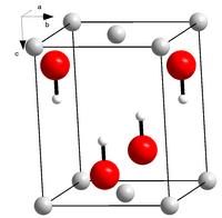 Kristallstruktur von Lithiumhydroxid