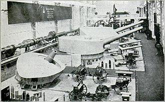 Krupp - An assortment of naval guns and field artillery pieces from the Krupp works in Essen, Germany. (Circa 1905)