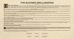 Kuching Declaration - The Kuching Declaration