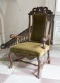Länstol klädd med grön plysch, 1700-1730 cirka - Skoklosters slott - 103797.tif