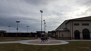 LSU Tennis Complex - Image: LSU Tennis Complex Tiger Statue
