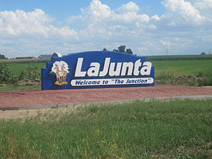 La Junta, Colorado - Image: La Junta, CO, welcome sign IMG 5682