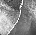 La Perouse Glacier, tidewater glacier terminus, September 16, 1966 (GLACIERS 5563).jpg