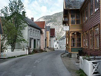 Lærdalsøyri - View of some of the old village
