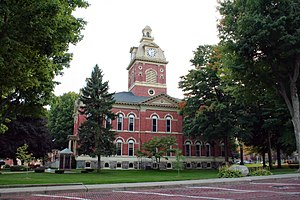 LaGrange County courthouse in LaGrange, Indiana. Built in the 1870s and now on the National Register of Historic Places