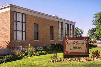 Lamb County, Texas - Image: Lamb County Library, Littlefield, TX IMG 4772