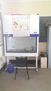 Laminar flow cabinet laboratory equipment