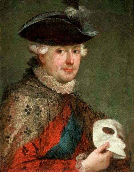 File:Lampi Stanislaus Augustus with a mask.jpg