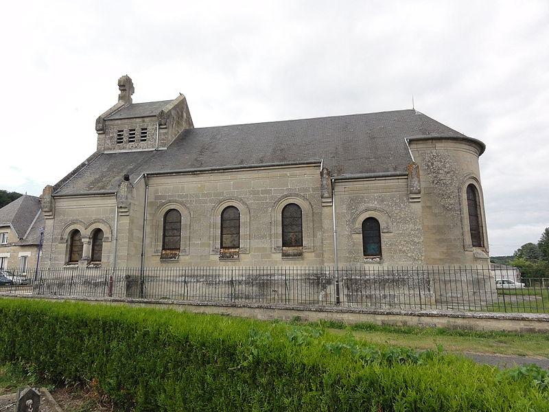 Landricourt (Aisne) église Saint-Martin