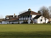 The clubhouse at Lansdown Cricket Club Ground