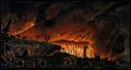 Lava emerging from Mount Vesuvius at night and running towar Wellcome V0025282.jpg