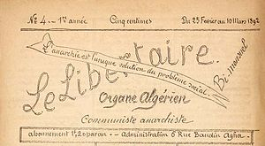 Le Libertaire - Image: Le Libertaire Organe Algérien
