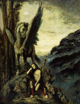 Pegasides - Pegasus and Bellerophon by Gustave Moreau, 19th century.