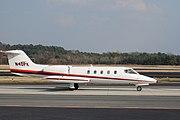 Learjet 35A taxiing