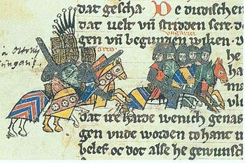 The Lechfeld Battle in the Saxon World Chronicle around 1270