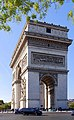Left side view of the Arc de Triomphe, Paris 9 October 2018 02.jpg