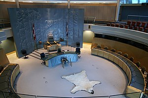 Legislative Assembly of the Northwest Territories - Interior of the legislative assembly