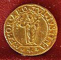 Leonardo donà, ducato d'oro con santa giustina, 1606-12.jpg