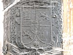 Lesser Royal Coat of Arms of Philip VI in Lima, 1650, Fountain at Plaza Mayor.jpg