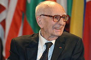 Portrait of Claude Lévi-Strauss taken in 2005